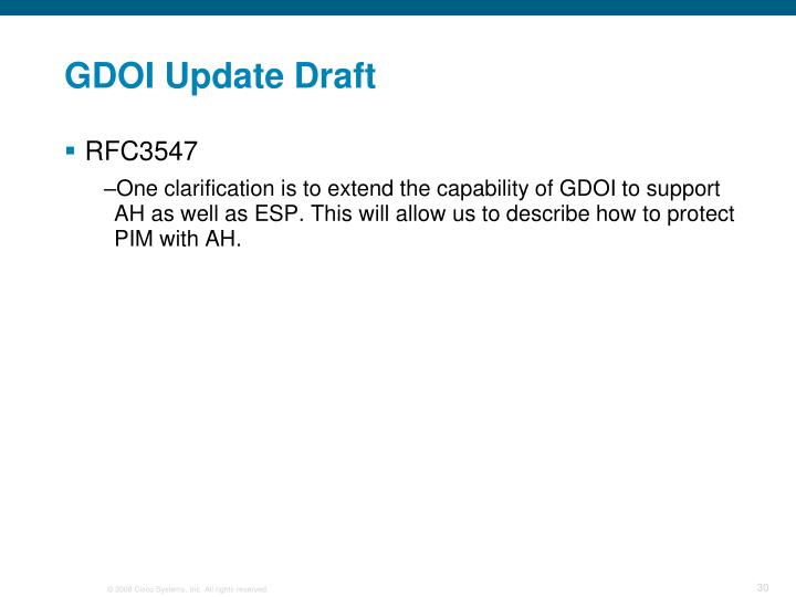 GDOI Update Draft