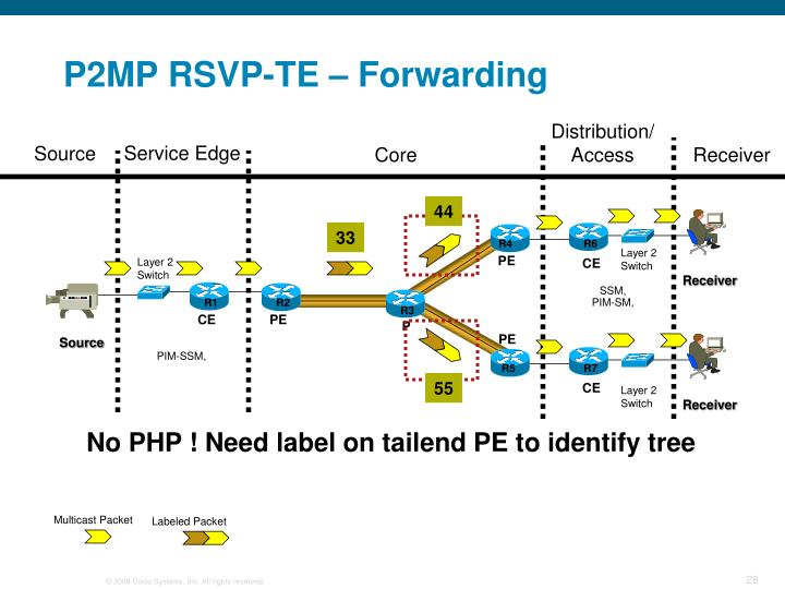 P2MP RSVP-TE – Forwarding