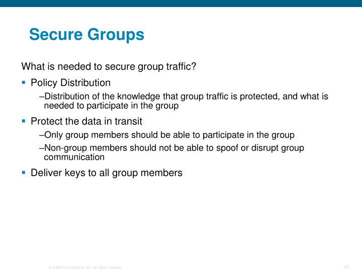 Secure Groups