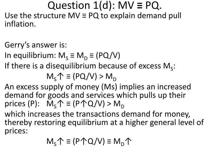 Question 1(d):