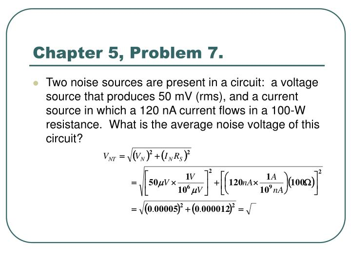 Chapter 5, Problem 7.