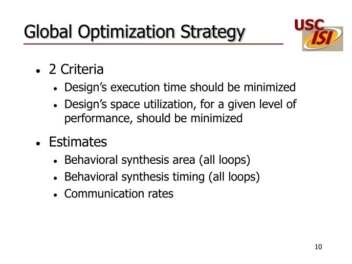 Global Optimization Strategy