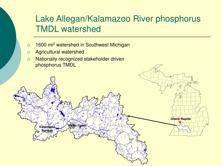 Lake Allegan/Kalamazoo River phosphorus TMDL watershed