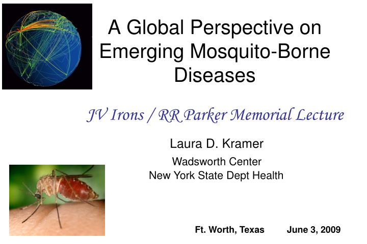 A global perspective on emerging mosquito borne diseases
