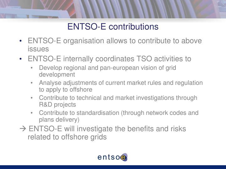 ENTSO-E contributions
