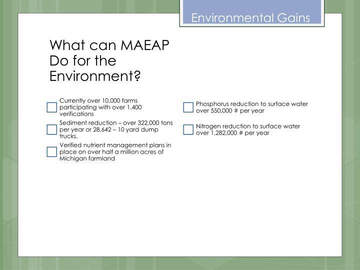 Environmental Gains