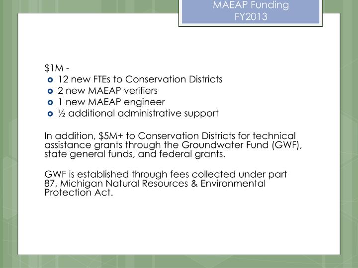 MAEAP Funding