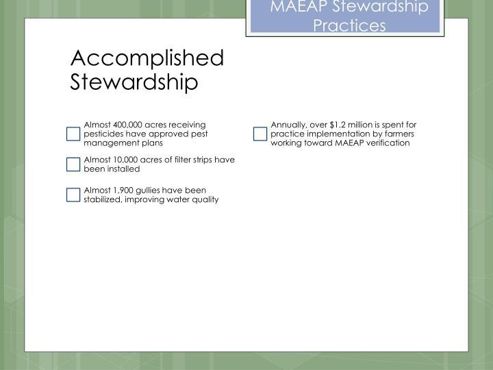 MAEAP Stewardship