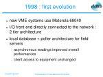 1998 first evolution