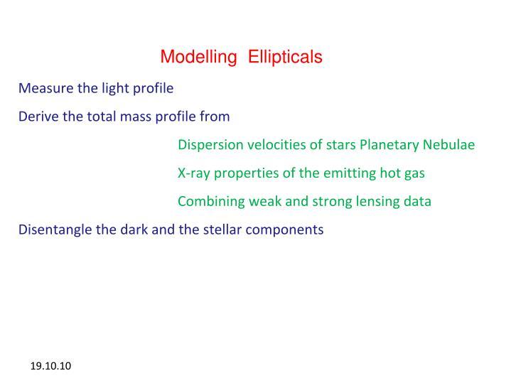 Modelling  Ellipticals