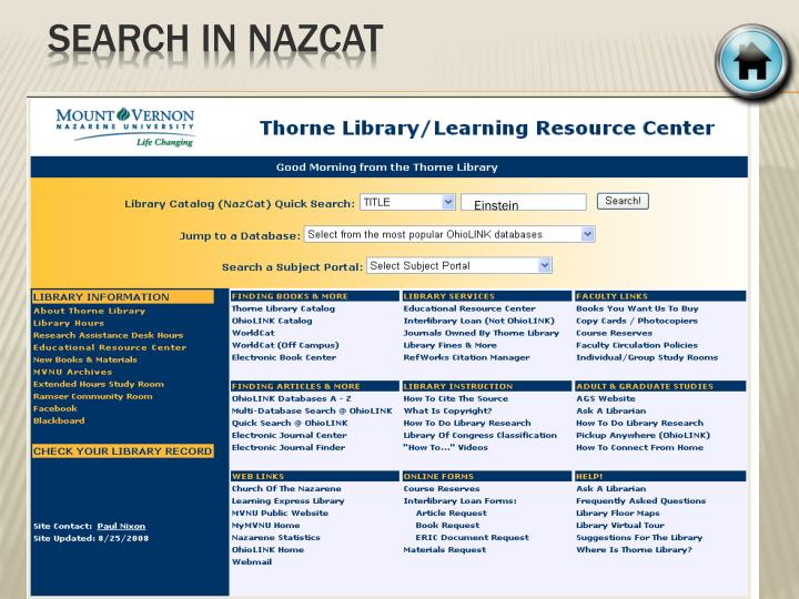 Search in nazcat