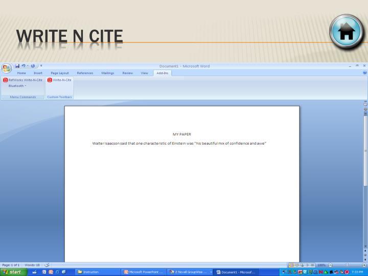 Write n cite