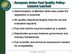 european union fuel quality policy lessons learned