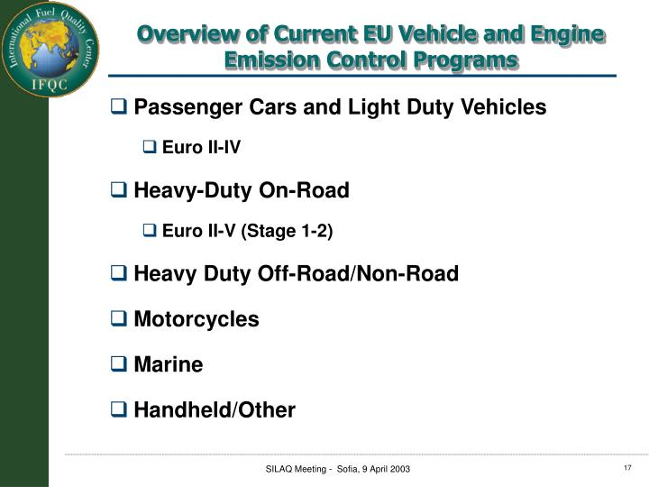 Passenger Cars and Light Duty Vehicles