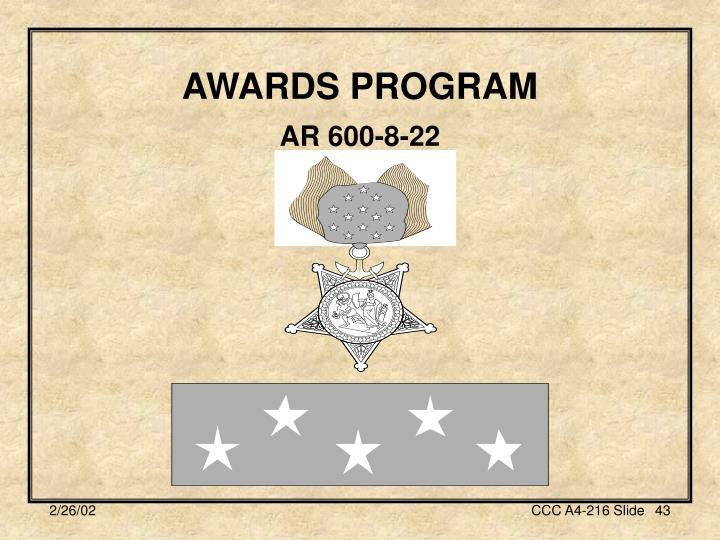 AWARDS PROGRAM