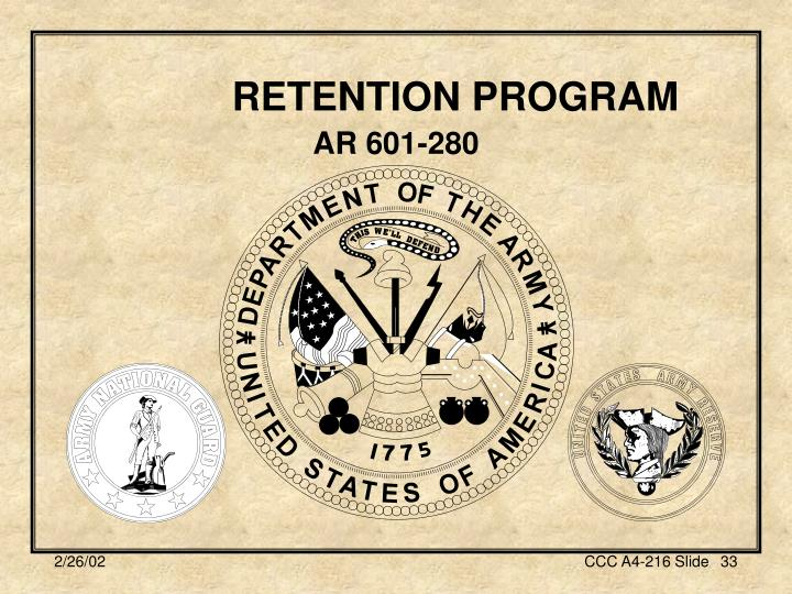 RETENTION PROGRAM