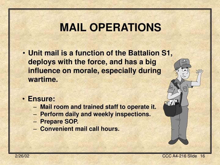 MAIL OPERATIONS