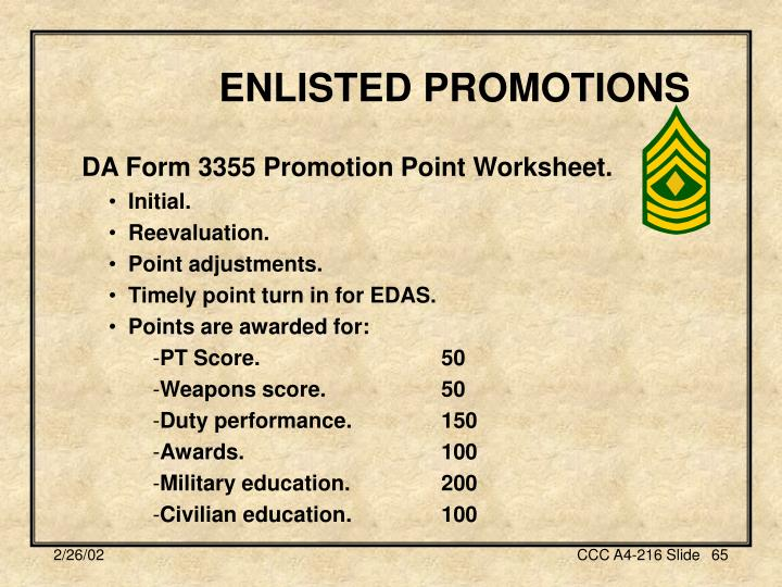 ENLISTED PROMOTIONS