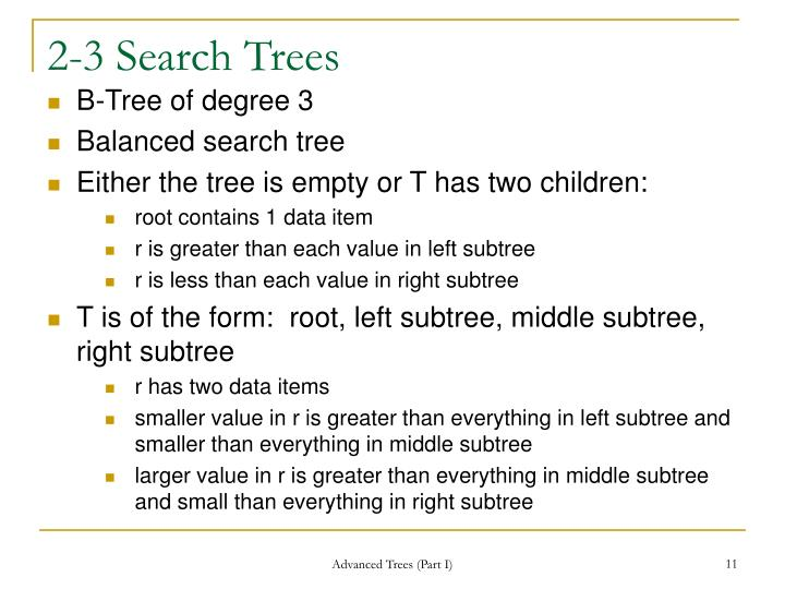 2-3 Search Trees