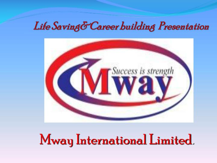 Life saving career building presentation