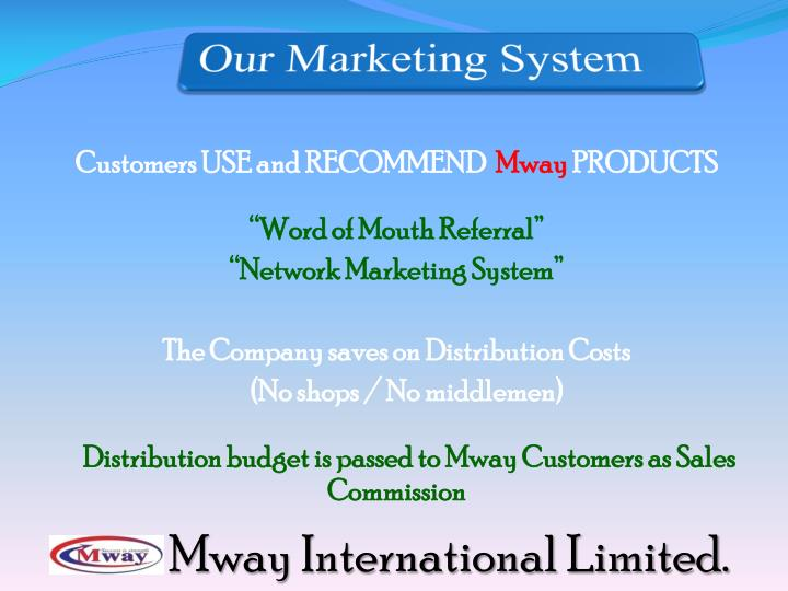 Our Marketing System