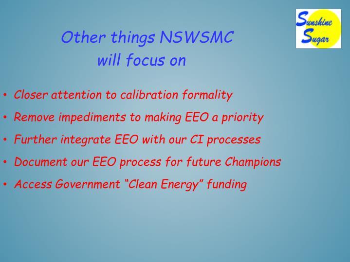 Other things NSWSMC