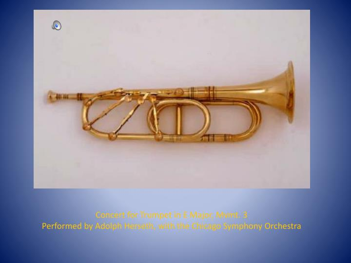 Concert for Trumpet in E Major, Mvmt. 3