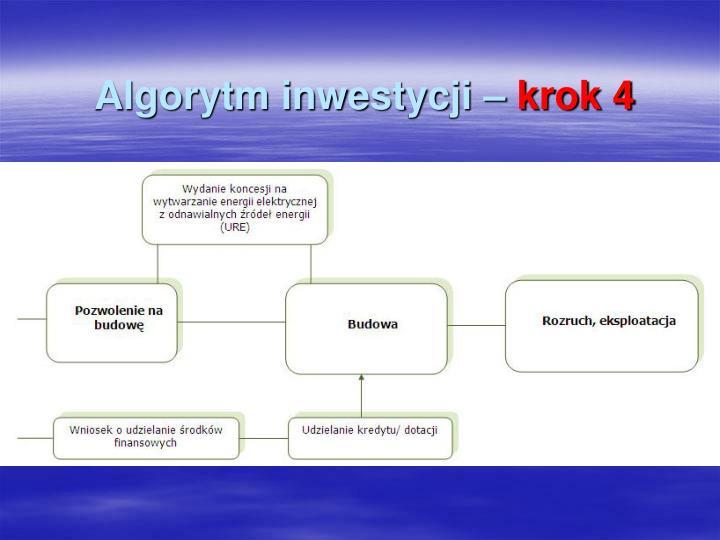 Algorytm inwestycji –