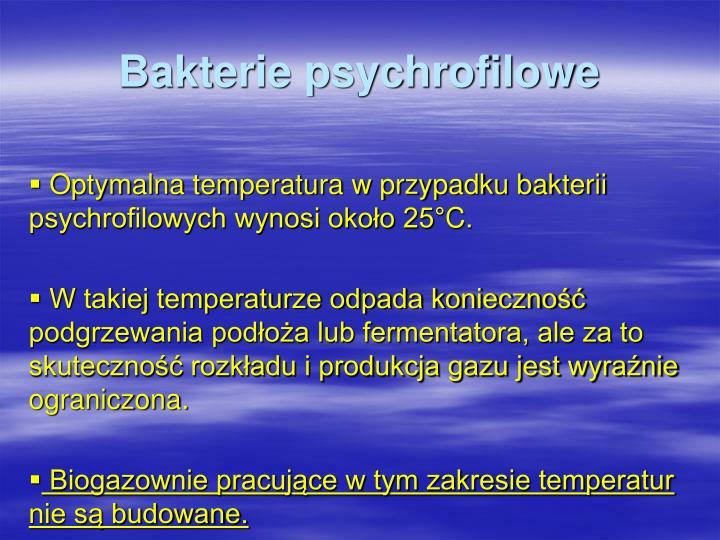 Bakterie psychrofilowe