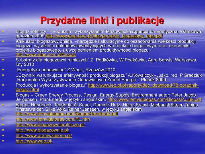 Przydatne linki i publikacje