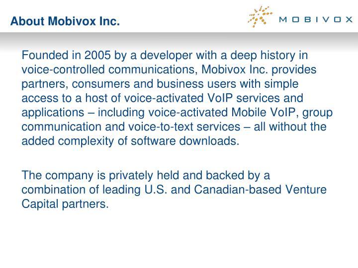About Mobivox Inc.