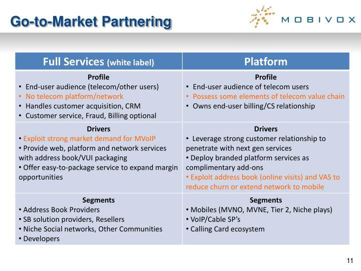 Go-to-Market Partnering