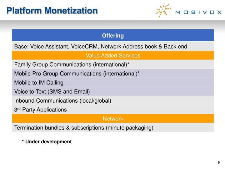 Platform Monetization