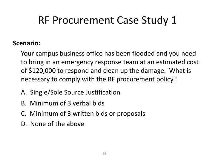 RF Procurement Case Study 1