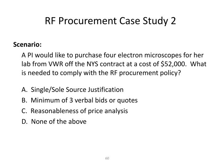 RF Procurement Case Study 2
