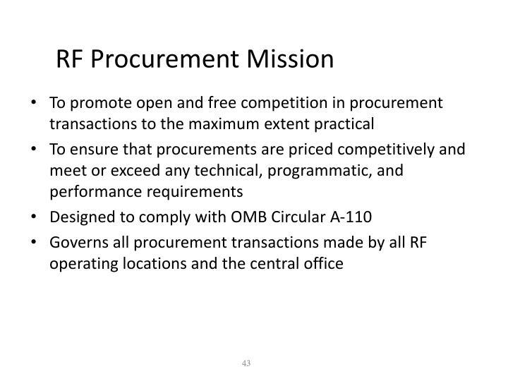 RF Procurement Mission