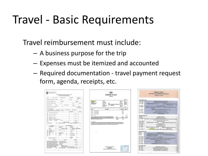 Travel - Basic Requirements