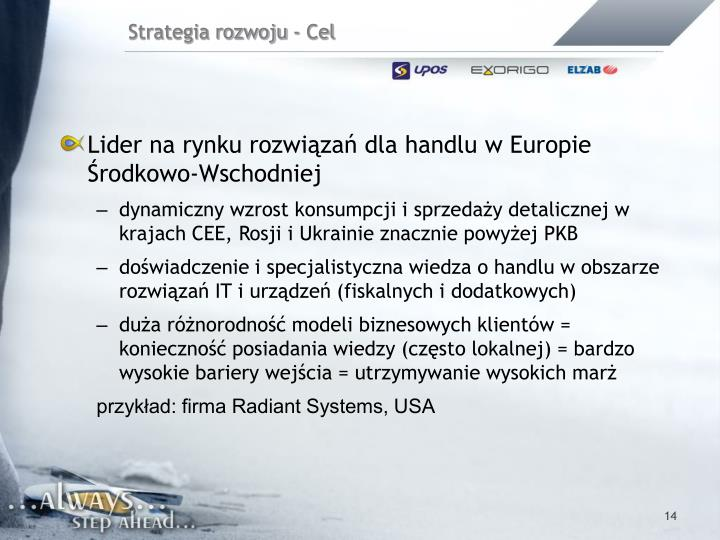 Lider na rynku rozwiązań dla handlu w Europie Środkowo-Wschodniej