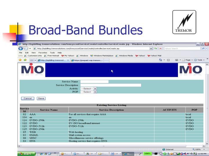 Broad-Band Bundles