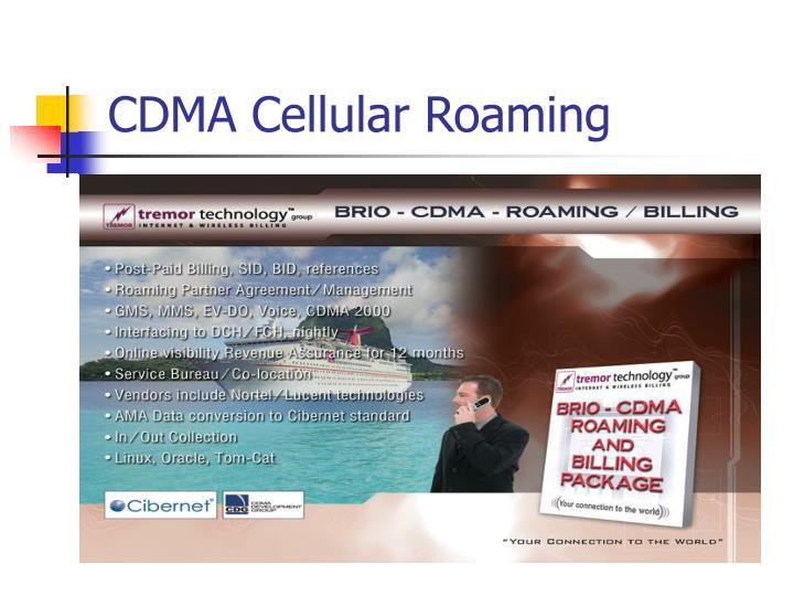 CDMA Cellular Roaming
