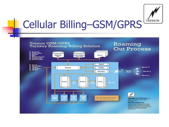 Cellular Billing–GSM/GPRS