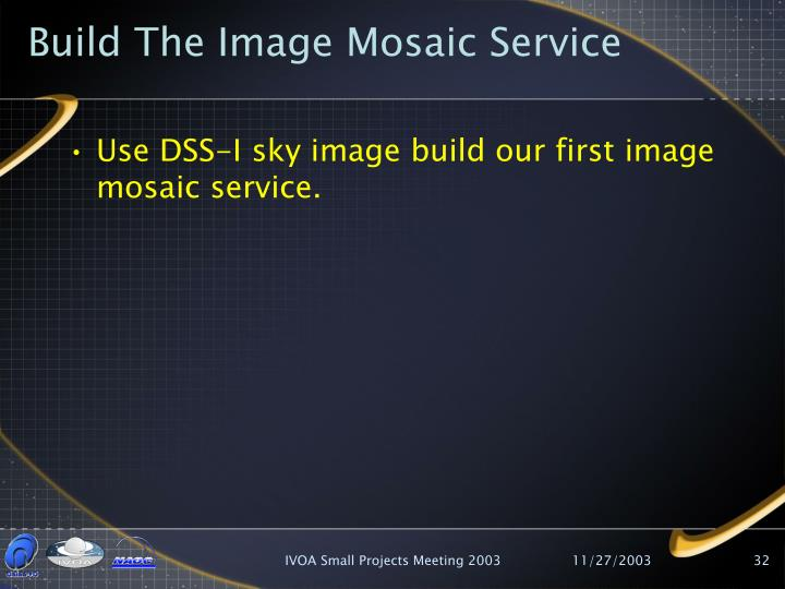Build The Image Mosaic Service