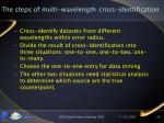 the steps of multi wavelength cross identification