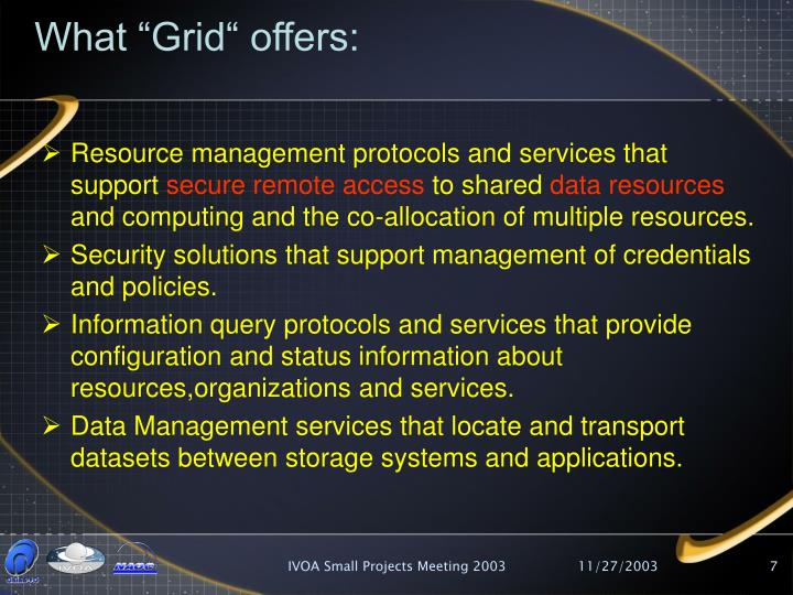 "What ""Grid"" offers:"