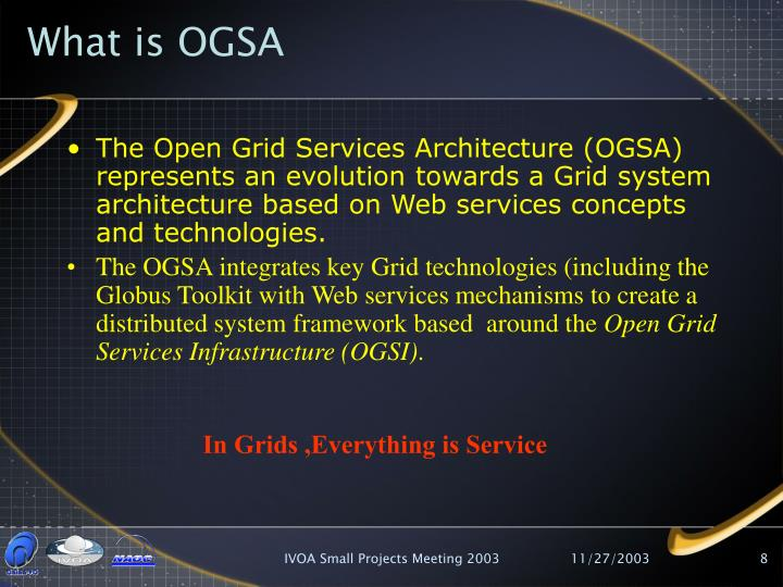 What is OGSA