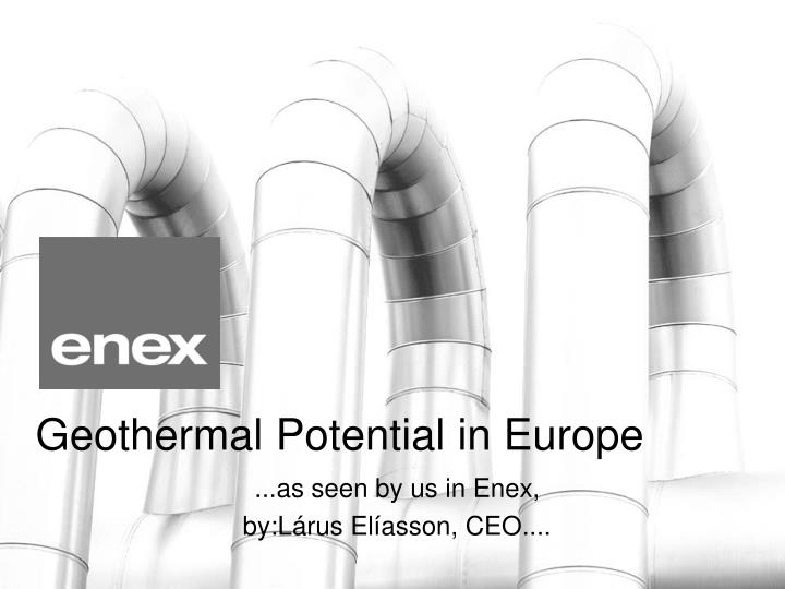 Geothermal potential in europe