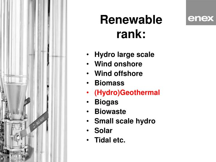 Renewable rank: