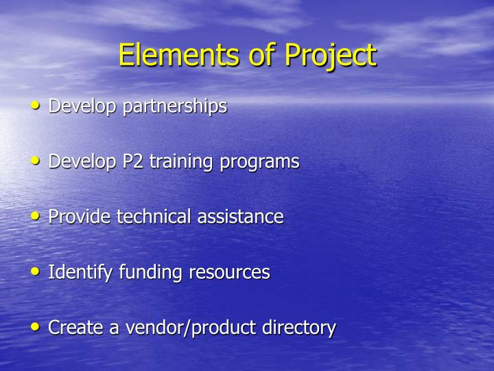 Elements of Project