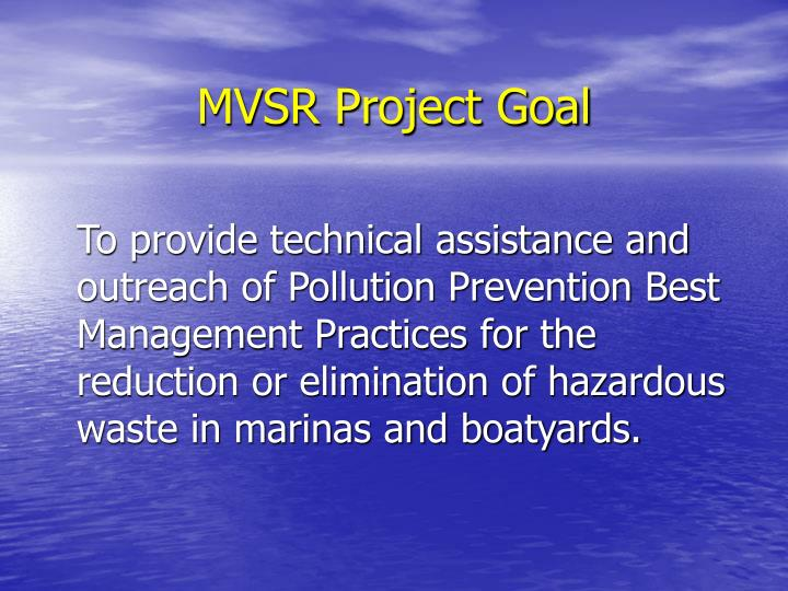 MVSR Project Goal
