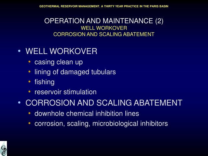 OPERATION AND MAINTENANCE (2)